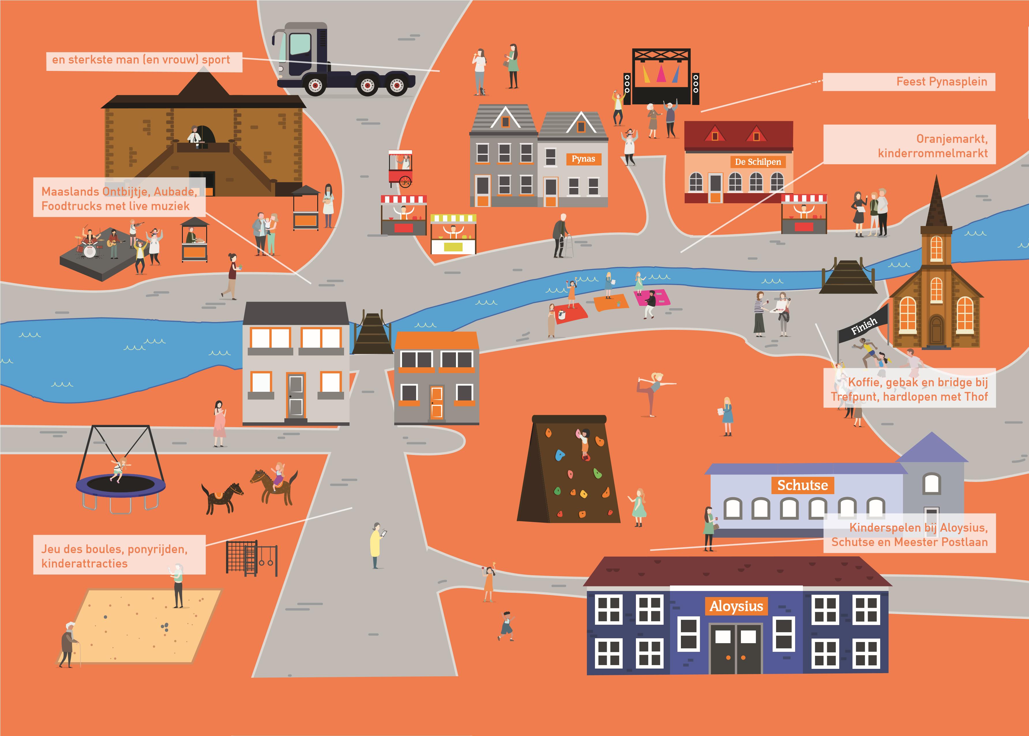 Plattegrond Oranjevereniging Maasland